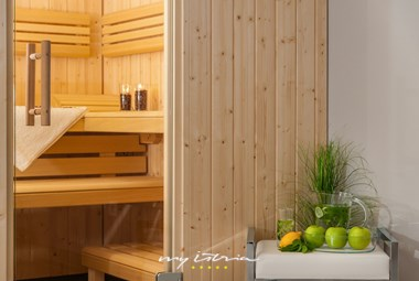 Sauna on the lower ground floor of Villa Sunce