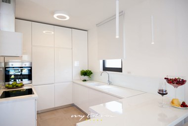 The kitchen in Villa More is fully equipped