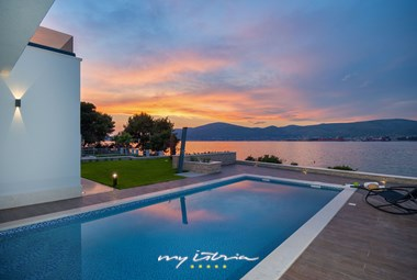 Sunset view from Villa More in Trogir