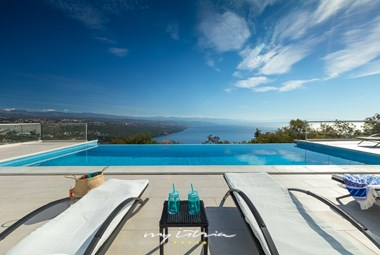 Stunning sea view from our Villa Kelly in Opatija
