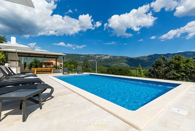 Villa´s lovely private pool with a view