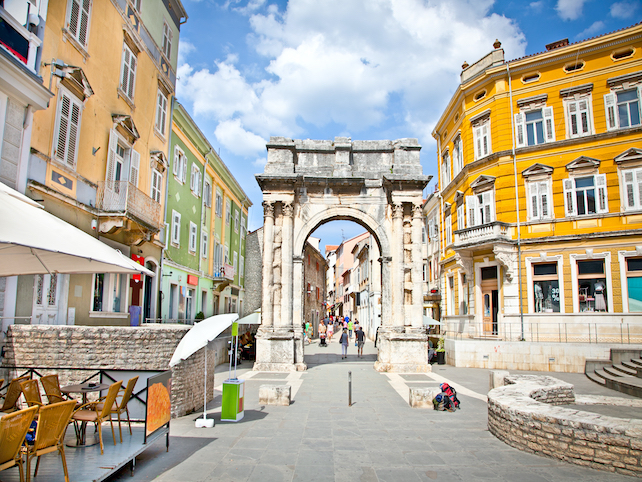 Arch of the Sergians in Pula, also known as the Golden Gate