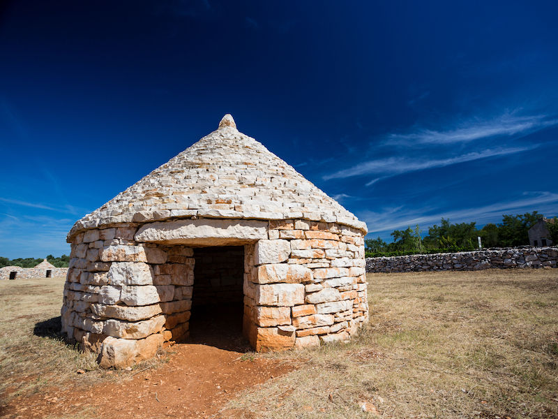 Kazun - ancient stone house & traditional trademark of Istria