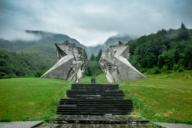 large-stone-monument-that-appears-like-wings-to-victims-of-WWII-in-Bosnia-and-Herzegovina