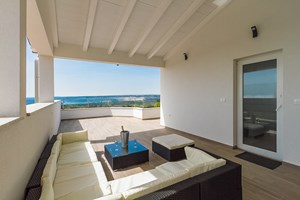 Villa White Gem Terrace with perfect view In Croatian holiday home